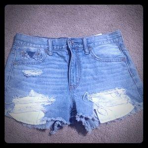 Vintage hi rise festival distressed shorts sz 4 AE